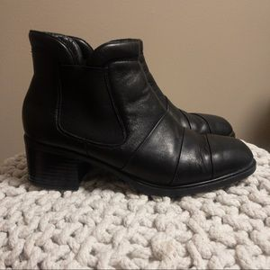 Rieker Ankle Combat Leather Boots Size 8